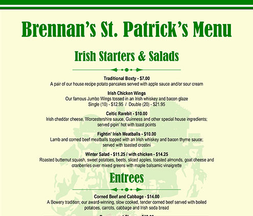 Brennans, The Bowery, St. Patrick's Day, St. Patricks Day