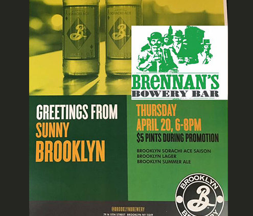 Brooklyn Brewery, Brennan's Bowery, The Bowery, Beer Event