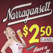 Cans & Clams, Brennan's Bowery Bar, The Bowery, Irish Pub, Narragansett Beer
